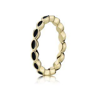 Pandora Black Enamel Twist Ring